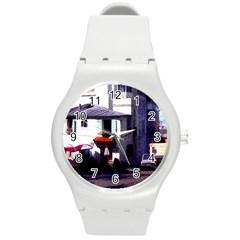 Vintage Paris Cafe Plastic Sport Watch (medium) by bloomingvinedesign