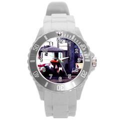 Vintage Paris Cafe Plastic Sport Watch (large) by bloomingvinedesign
