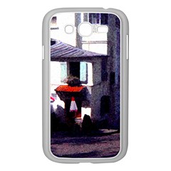 Vintage Paris Cafe Samsung Galaxy Grand Duos I9082 Case (white) by bloomingvinedesign