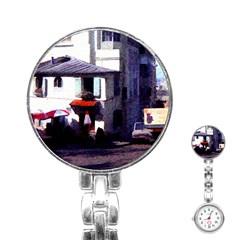 Vintage Paris Cafe Stainless Steel Nurses Watch by bloomingvinedesign