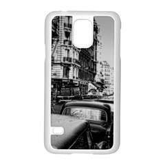Vintage Paris Street Samsung Galaxy S5 Case (white) by bloomingvinedesign