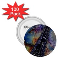 Vintage Eiffel Tower Abstract 1 75  Button (100 Pack) by bloomingvinedesign