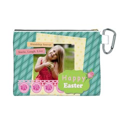 Easter By Easter   Canvas Cosmetic Bag (large)   O5sl1h1z542u   Www Artscow Com Back