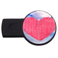 Pop Art Style Love Concept 2gb Usb Flash Drive (round) by dflcprints