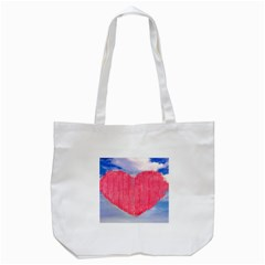Pop Art Style Love Concept Tote Bag (white) by dflcprints