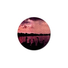 7 Geese At Sunset Golf Ball Marker by bloomingvinedesign