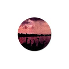 7 Geese At Sunset Golf Ball Marker 4 Pack by bloomingvinedesign