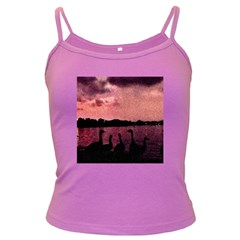 7 Geese At Sunset Spaghetti Top (colored) by bloomingvinedesign