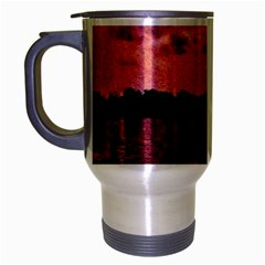 7 Geese At Sunset Travel Mug (silver Gray) by bloomingvinedesign