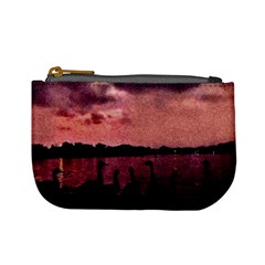 7 Geese At Sunset Coin Change Purse by bloomingvinedesign