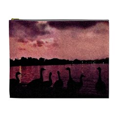 7 Geese At Sunset Cosmetic Bag (xl) by bloomingvinedesign