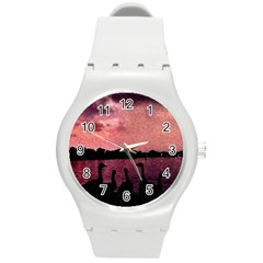7 Geese At Sunset Plastic Sport Watch (medium) by bloomingvinedesign