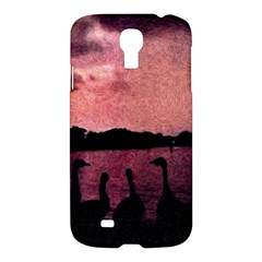 7 Geese At Sunset Samsung Galaxy S4 I9500/i9505 Hardshell Case by bloomingvinedesign