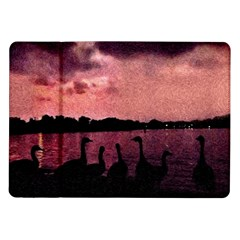 7 Geese At Sunset Samsung Galaxy Tab 10 1  P7500 Flip Case by bloomingvinedesign