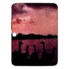 7 Geese At Sunset Samsung Galaxy Tab 3 (10 1 ) P5200 Hardshell Case  by bloomingvinedesign