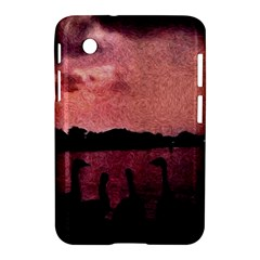 7 Geese At Sunset Samsung Galaxy Tab 2 (7 ) P3100 Hardshell Case  by bloomingvinedesign