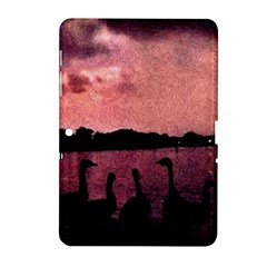 7 Geese At Sunset Samsung Galaxy Tab 2 (10 1 ) P5100 Hardshell Case  by bloomingvinedesign