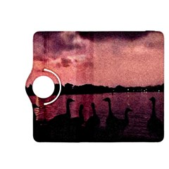 7 Geese At Sunset Kindle Fire Hdx 8 9  Flip 360 Case by bloomingvinedesign