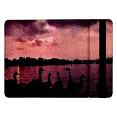 7 Geese At Sunset Samsung Galaxy Tab Pro 12 2  Flip Case by bloomingvinedesign
