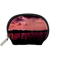 7 Geese At Sunset Accessory Pouch (small) by bloomingvinedesign