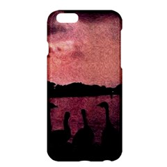 7 Geese At Sunset Apple iPhone 6 Plus Hardshell Case by bloomingvinedesign