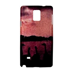 7 Geese At Sunset Samsung Galaxy Note 4 Hardshell Case by bloomingvinedesign