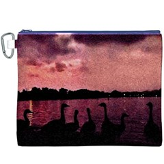 7 Geese At Sunset Canvas Cosmetic Bag (xxxl) by bloomingvinedesign