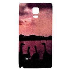 7 Geese At Sunset Samsung Note 4 Hardshell Back Case by bloomingvinedesign