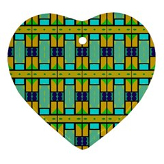 Different Shapes Pattern Ornament (heart) by LalyLauraFLM