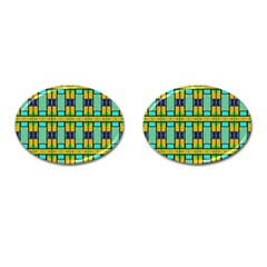 Different Shapes Pattern Cufflinks (oval) by LalyLauraFLM