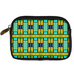 Different Shapes Pattern Digital Camera Leather Case by LalyLauraFLM