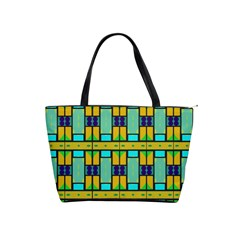 Different Shapes Pattern Classic Shoulder Handbag by LalyLauraFLM