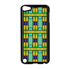 Different Shapes Pattern Apple Ipod Touch 5 Case (black) by LalyLauraFLM
