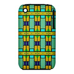 Different shapes pattern Apple iPhone 3G/3GS Hardshell Case (PC+Silicone)