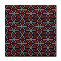Cubes Pattern Abstract Design Tile Coaster by LalyLauraFLM