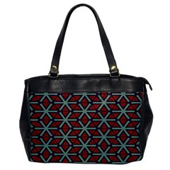 Cubes Pattern Abstract Design Oversize Office Handbag (one Side) by LalyLauraFLM