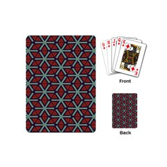 Cubes Pattern Abstract Design Playing Cards (mini) by LalyLauraFLM