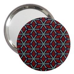 Cubes Pattern Abstract Design 3  Handbag Mirror by LalyLauraFLM