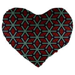Cubes Pattern Abstract Design 19  Premium Heart Shape Cushion by LalyLauraFLM