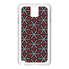 Cubes Pattern Abstract Design Samsung Galaxy Note 3 N9005 Case (white) by LalyLauraFLM