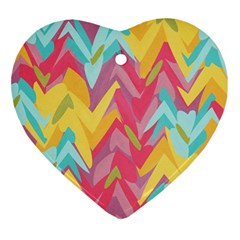 Paint Strokes Abstract Design Ornament (heart) by LalyLauraFLM