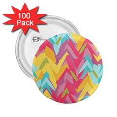 Paint Strokes Abstract Design 2 25  Button (100 Pack) by LalyLauraFLM