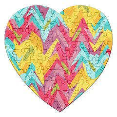 Paint Strokes Abstract Design Jigsaw Puzzle (heart) by LalyLauraFLM