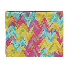 Paint Strokes Abstract Design Cosmetic Bag (xl) by LalyLauraFLM