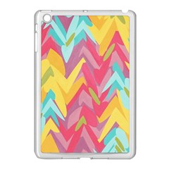 Paint Strokes Abstract Design Apple Ipad Mini Case (white) by LalyLauraFLM