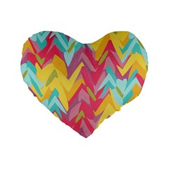 Paint Strokes Abstract Design 16  Premium Heart Shape Cushion  by LalyLauraFLM
