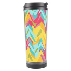 Paint Strokes Abstract Design Travel Tumbler by LalyLauraFLM