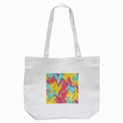 Paint Strokes Abstract Design Tote Bag (white) by LalyLauraFLM