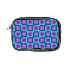 Blue Purple Squares Pattern Coin Purse by LalyLauraFLM