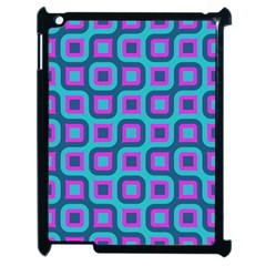Blue Purple Squares Pattern Apple Ipad 2 Case (black) by LalyLauraFLM